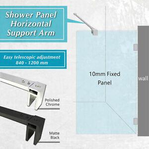 Adjustable(840-1200)mm Glass Panel Stabilizer/Support Bar (Black)--8/10mm Glass