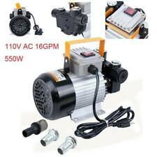 16Gpm Self Priming Portable Electric Oil Pump Transfer Fuel Diesel 110V Ac 550W