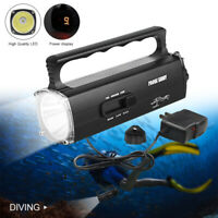 Underwater 100m Diving L2 LED Flashlight Rechargeable Handheld Torch Scuba Lamp
