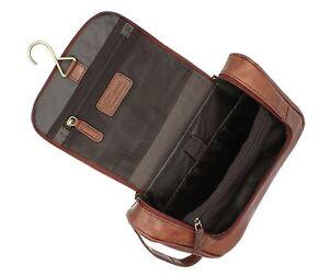 Ashwood Hanging Leather Wash / Shaving Bag 89145