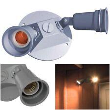 2-Light Outdoor Security Floodlight Lampholder Weatherproof Lighting Fixture