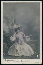 b14 Gaby Deslys 1st nude striper Theater theatre Edwardian 1910s photo postcard