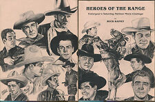 Heroes of the Range: Saturday Matinee Movie Cowboys by Buck Rainey-1987-1st Ed.