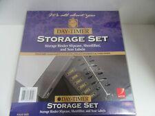 Daytimer Storage Set Folio Size Binder Slipcase Sheetlifter Year Labels 85005