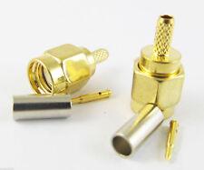 100x NEW SMA Male Straight Crimp for RG174 RG179 RG316 RG188 RF Connector