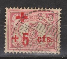 Nederlands Indie Netherlands Indies 136 TOP CANCEL SOLO Rode Kruis 1915