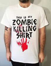 The walking undead dead zombie killing t shirt game gamer tee gift Gildan white