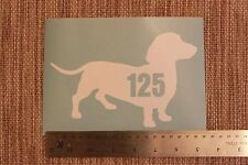 3 x Wheelie Bin Numbers Dachshund House Number Sticker Dog