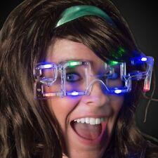 2017  NEW YEARS EVE MultiColor Flashing LED Fashion Novelty Sunglasses