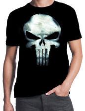 The Punisher Distressed Skull Logo Frank Castle Comic Book Daredevil New T-Shirt