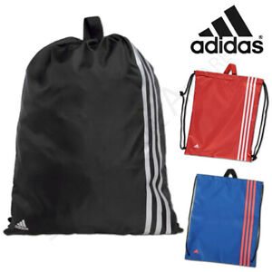 Adidas Sports Gym Sack Training Bag Drawstring PE Kit Football School Gymsack