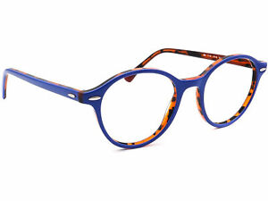 Ray Ban Eyeglasses RB 7118 5716 Blue On Tortoise Round Frame 50[]19 145