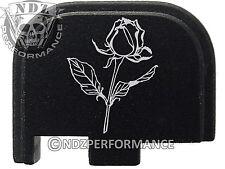 for Glock 42 ONLY Rear Slide Cover Plate .380 Cal G42 Black Rose Flower
