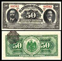 Mexico, Revolution, 50 Centavos, 1915, Pick S1070, Sonora, UNC