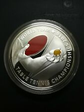 2016 WTTC World Table Tennis Championship Single Silver Proof.Mintage: 500.