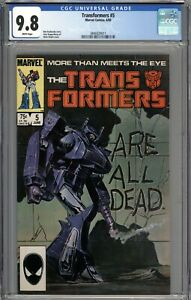 Transformers #5 CGC 9.8 NM/MT WHITE PAGES