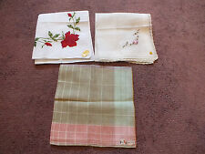 Collectible Ladies Handkerchief Set 3 Original Labels France Austria Switzerland