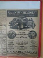 Vintage 1937 New Chevrolet Car Print Ad Valve-In-Head Engine 85 Horsepower! RARE