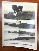 WWII Air Force Photo 67th Group Aerial Recon Napalm Jel Bomb Cezembre Isle 1944