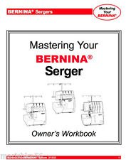 BERNINA 700D 800DL 1100D 1100DA 1200DA 1300DC 2500DCET Owners WORKBOOK PDF/CD