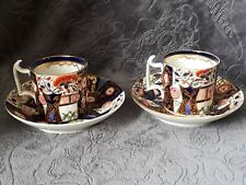 Royal Crown Derby, pair of Coffee Cans and Saucers dates to circa 1806