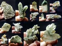 Natural Stunning Lot of Chlorite Quartz Crystals Specimens Pakistan 14Pcs 1.6kg