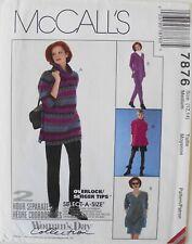 McCalls 7876 Misses Tops Pull On Pant Dress Pants Shorts Sewing Pattern Sz 12-14