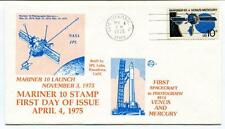 1975 Mariner 10 Stamp First Day Issue Pasadena Cape Canaveral First Spacecraft