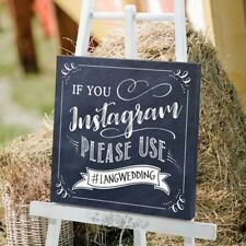 Instagram Sign If You Please Use Hashtag Wedding Decoration Engagement Party