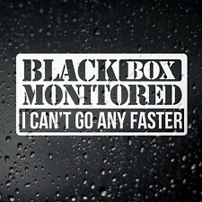 Black Box Monitored Funny Car Sticker - Fitted Young New Driver Insurance