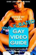 The X-Rated Gay Video Guide by Sabin (1997, Hardcover) Like New/Unread*