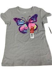 Girls Glitter Butterfly Graphic T-Shirt Top, S(6-6X) New
