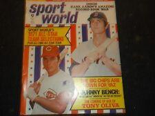 Vintage BASEBALL Magazine SPORT WORLD Aug,1971/Coll.Item-COMPLETE ALL-STAR RECs