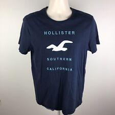 Hollister Mens Blue Medium S/S Crewneck T Shirt