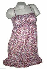 Clockhouse  Mini Kleid  Bandeau Tunika  Gr 34 36 XS  geblümt  wie neu #1140