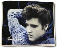 "New Dish Towel Elvis Presley Blue Sweater 24"" Kitchen The King Photo Picture NIP"