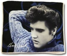 """New Dish Towel Elvis Presley Blue Sweater 24"""" Kitchen The King Photo Picture NIP"""