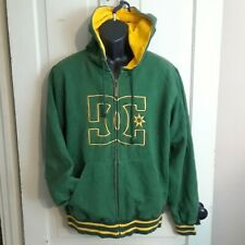 DC Zip Up Hoodie,Jacket,Coat Mens Size M Green/Yellow