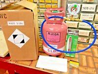 R410a, Refrigerant Recharge STOP LEAK KIT, 5 lb Instructions, Color Coded Gauge