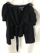Banana Republic Extra Fine Italian Merino Wool Black Sweater Shrug Size XS