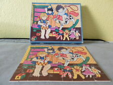 Vintage Lito hand cut figurpussel wooden jigsaw puzzle. Jouet Chambre Raggedy Ann, enfants
