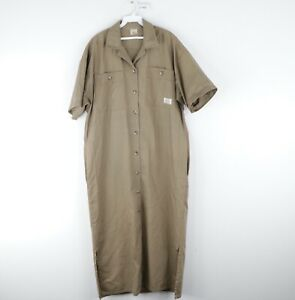 Vintage 80s The Kettle Creek Canvas Co Womens Size 3 Short Sleeve Button Dress