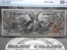 "1896 $5 Silver Certificate ""Education"" FR# 268 ""Tillman/Morgan"" #7648914 ECC&C"