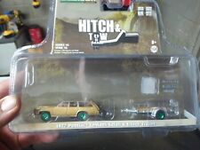Greenlight 1/64 Hitch & Tow 18 1977 Pontiac LeMans Safari green machine chase