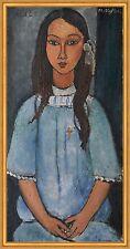 Alice Amedeo Modigliani Mädchen Haarschmuck Kleid lange Haare Kind B A2 00455
