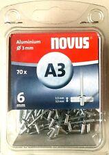 Novus Blindniete 'A3' L: 6 mm Ø 3 mm Aluminium 70 Stück 045-0028