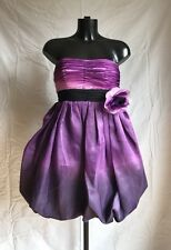 Original Mori Lee Party Prom Evening Cocktail Dress Uk7/8 Purple Lavender Violet