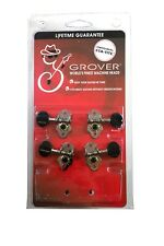Grover Sta-Tite Geared Ukulele Tuning Pegs Black Buttons