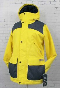 New Burton Womens Brighton Snowboard Jacket Medium Hellow/Denim