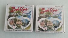 New and Sealed Bob Ross Shaped Playing Cards   52 Card Deck + 2 Jokers Lot of 2
